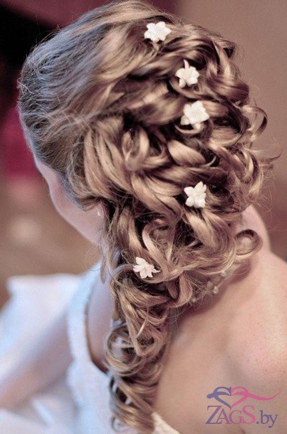 свадебные прически когда волосы не